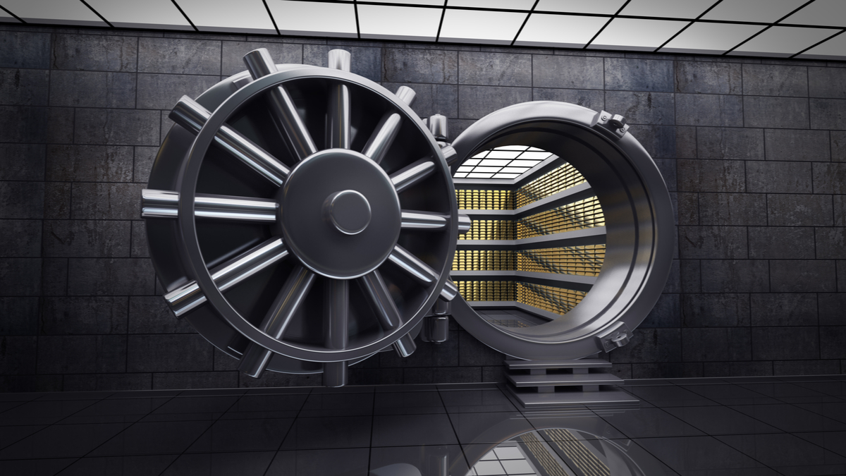 photo illustration of bank vault