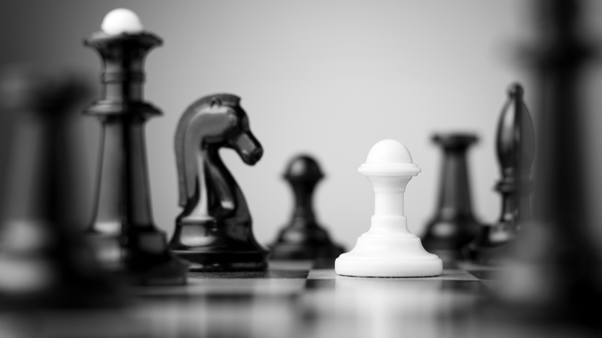 photo illustration of chess pieces