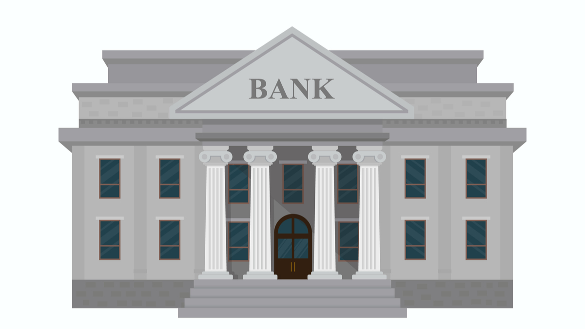 Illustration of small bank