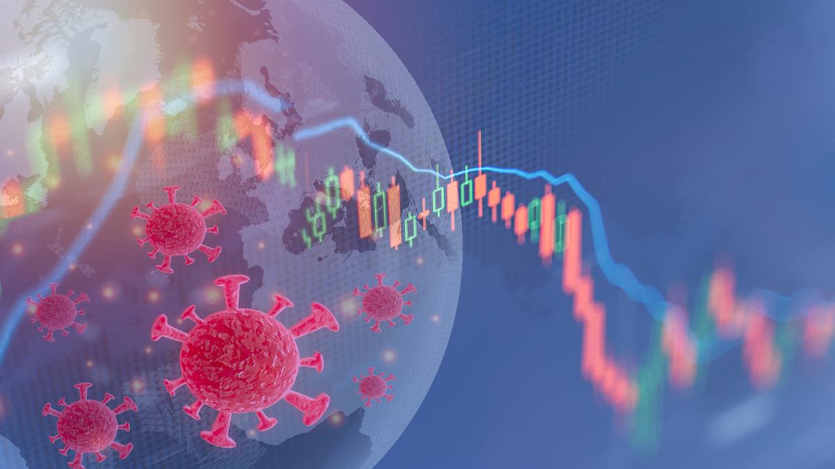 Illustration of virus and globe
