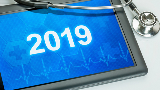 Stethoscope and year 2019