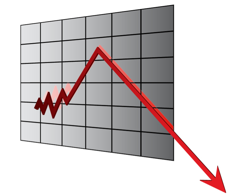Downward arrow graph