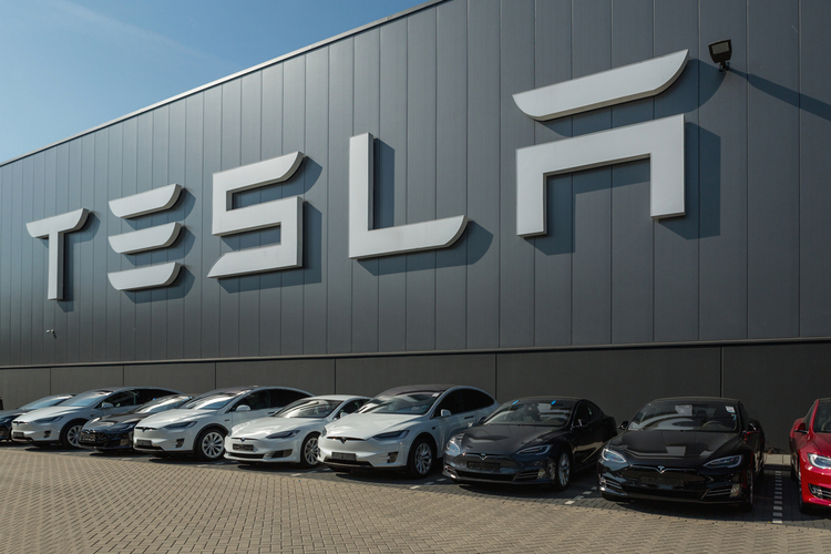 Tesla assembly plant in the Netherlands