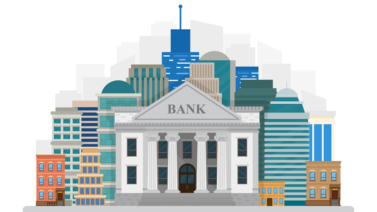 Illustration of large bank
