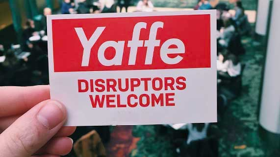 Sticker: Yaffe Disruptors Welcome