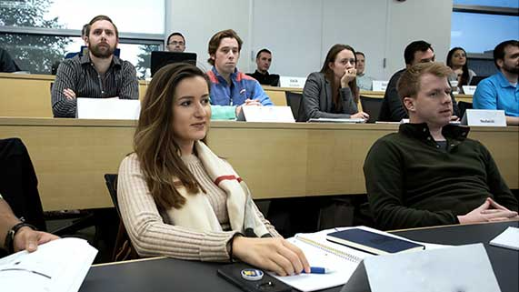 Students in MBA Classroom