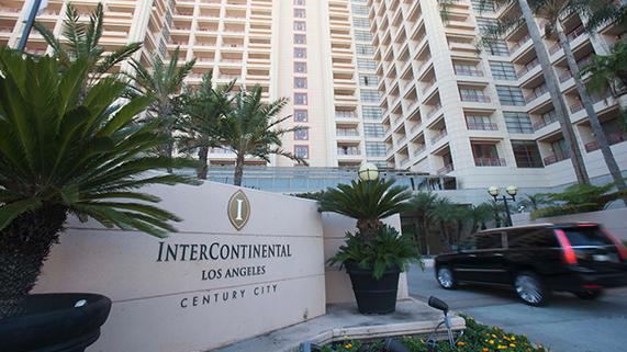 Intercontinental Hotel entrance in LA