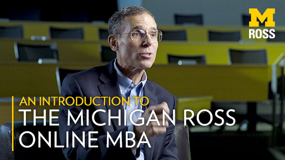 Online MBA   Michigan Ross