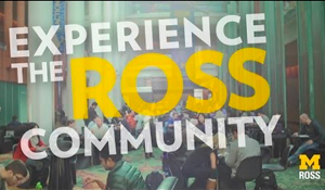 Experience Ross Community Video title slide