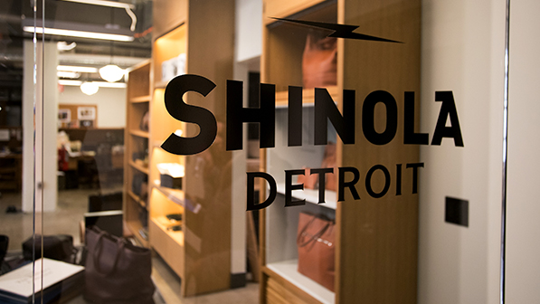 door with Shinola logo