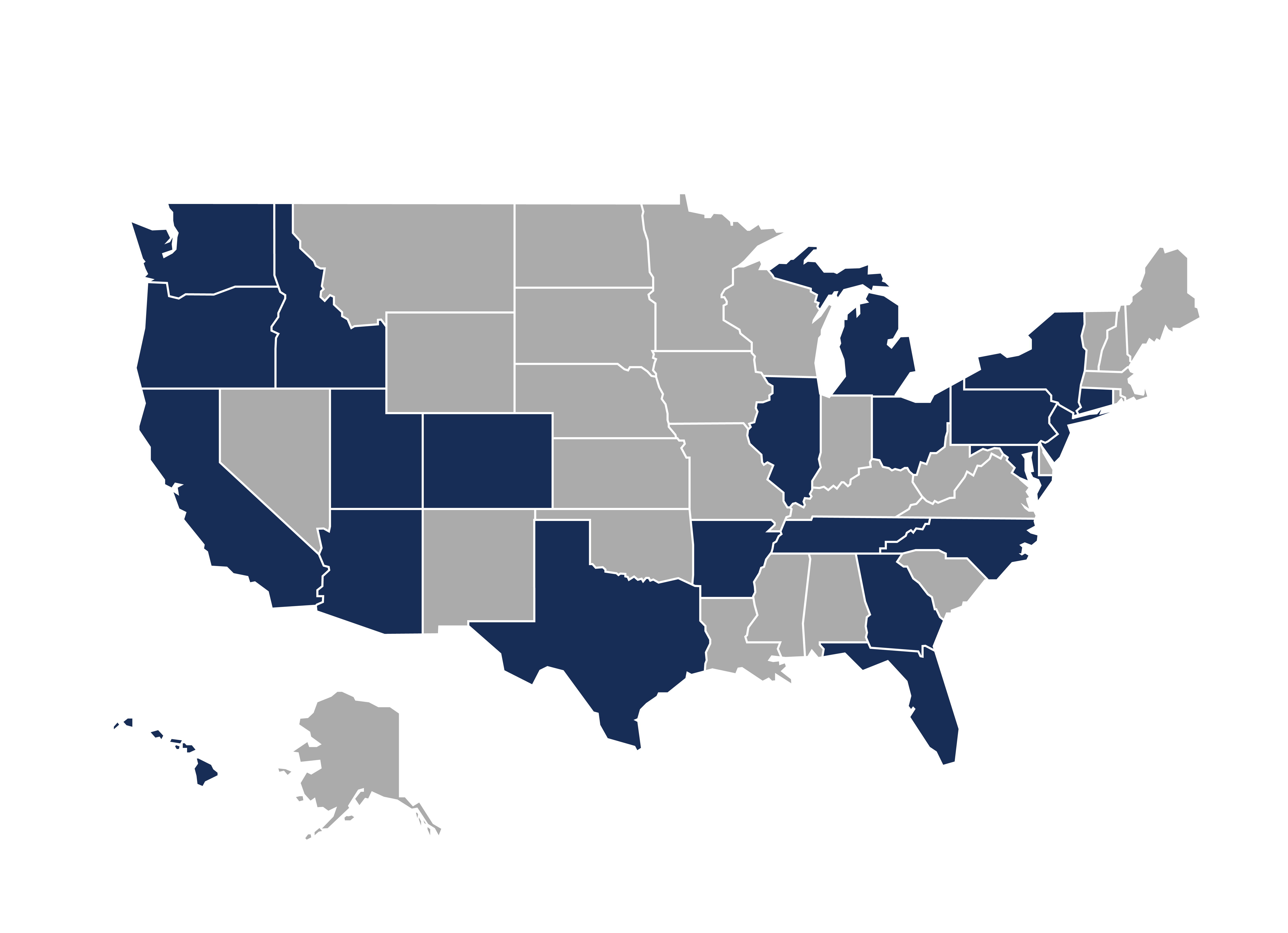US MAP of EMBA students