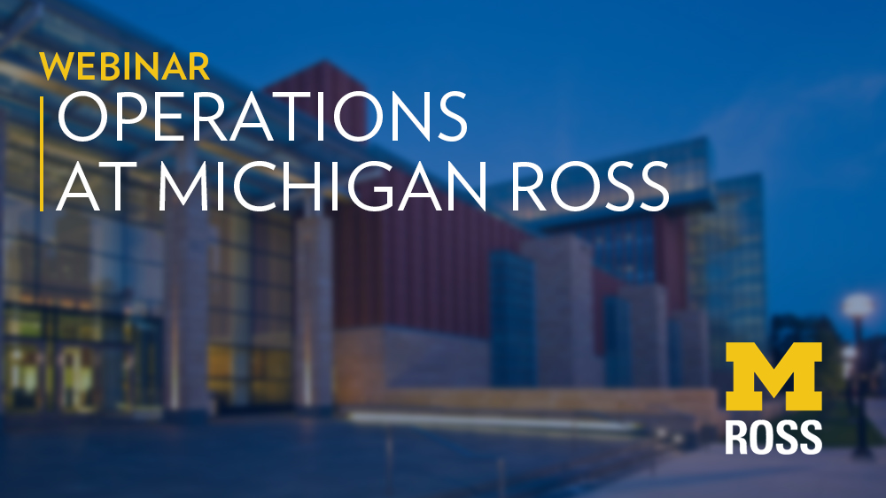 careers in operations michigan ross