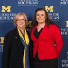 Alumna Cathy Pombier Bessant, BBA '82, and her scholarship recipient Courtney Shier, BBA '17, were both featured speakers at this year's Scholarship Dinner.