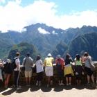 Peru Group 2014 Doing Business in Peru students admire Machu Picchu.