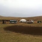 The UNDP MAP team in Mongolia explore nomadic life as part of their project.