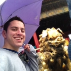 China course:  Student Howard Sobel explores the Forbidden City.