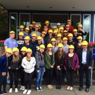Europe course:  Students on a company visit to Thyssenkrupp Rasselstein, Germany's only tinplate manufacturer.