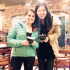 An exchange student explores Ann Arbor and tries some delicious frozen yogurt with her global ambassador.
