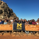 Students in South Africa exploring the Cape of Good Hope.