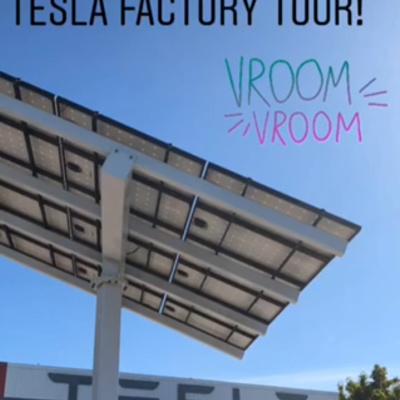 Outside at Tesla