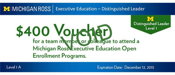Distinguished Leader Executive Certificate Program