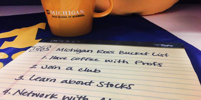 My Michigan Ross Bucket List Is Kind of Intense