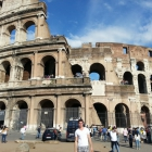 Andrew Munerance, an undergraduate in the Italy Global Immersion Course, sees the sights in Rome and Milan.