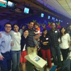Exchange and Ross students get to know each other during a bowling event.