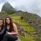Undergraduates Kelly Krater and Nicola Montagna visit majestic Machu Picchu while expanding their business knowledge in Peru.