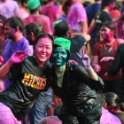 Ross MBA Emi Yamazaki enjoys the Holi Festival of Colors during her exchange experience at the Indian School of Business in Hyderabad, India.