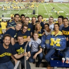 Ross exchange students experience the excitement of a University of Michigan football game at Michigan Stadium.