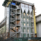 The west face of Jeff T. Blau Hall, including what will become a stair well and elevator shafts. When complete, this side of Blau Hall will have a glass exterior wall.